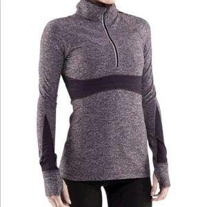 Lululemon Full Tilt Pullover Heather Black Size 8